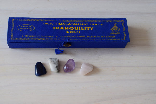Tranquility:  Incense and Stone Care-package