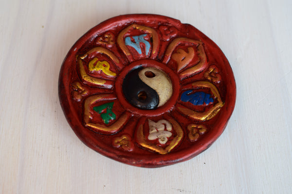 Painted clay Nepalese Incense burners