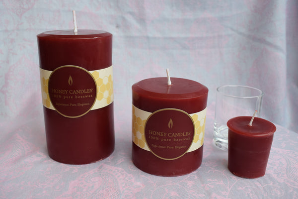 100% Beeswax Candle Pillars, Votives and Tealights