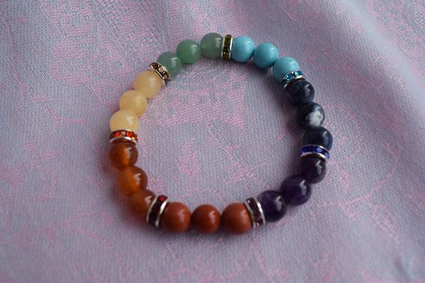 Chakra Mala with coloured spacers