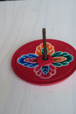 Wood Painted Nepalese Incense Burners