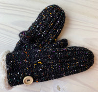 Knit Mittens with Plush Liner