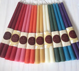 Beeswax Candles Coloured Tapers