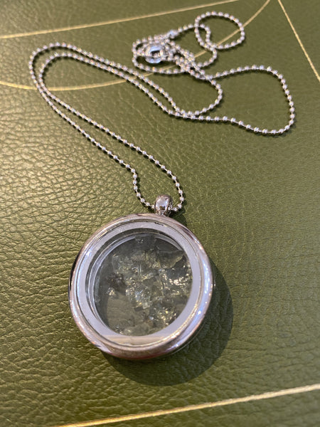 Moldavite Locket Necklace