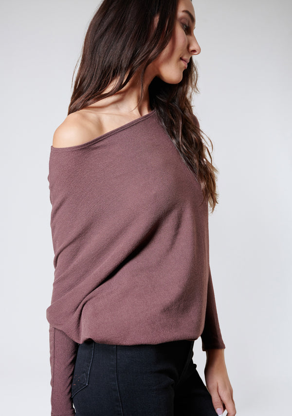 Off Shoulder Dolman Sleeve Tunic