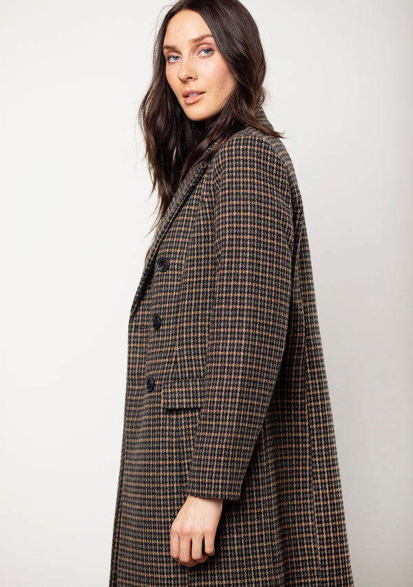 Vm Hafia Check 3/4 Wool Jacket