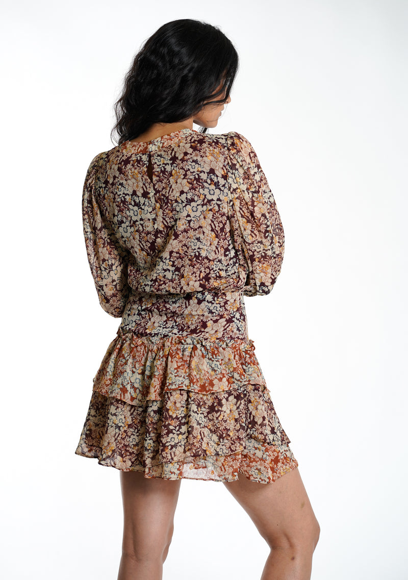 Mixed Floral Mini Dress