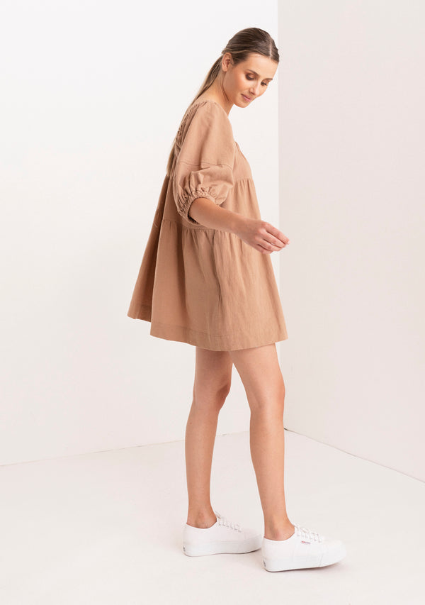 Square Neck Oversized Mini Dress