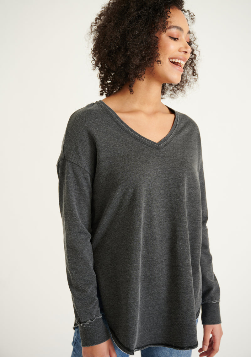 V-Neck Weekender Long Sleeve T-Shirt
