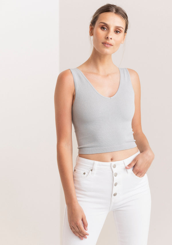 Seamless Ribbed Crop Top