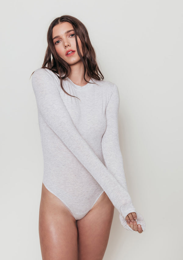 Crew Neck Long Sleeve Bodysuit