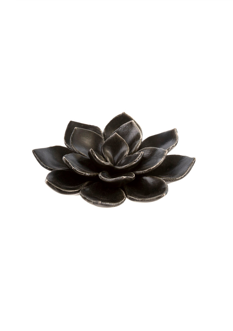 Lily Table Ornament Matte Black