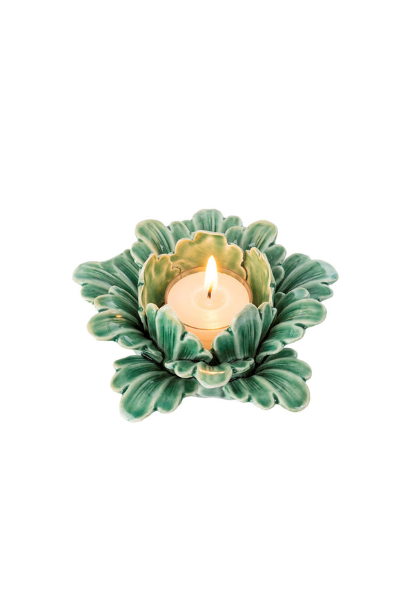 Pretty Petals Tealight Green