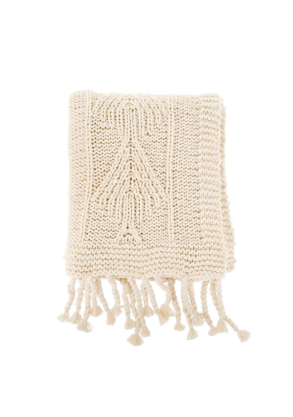 Cotton Knit Throw