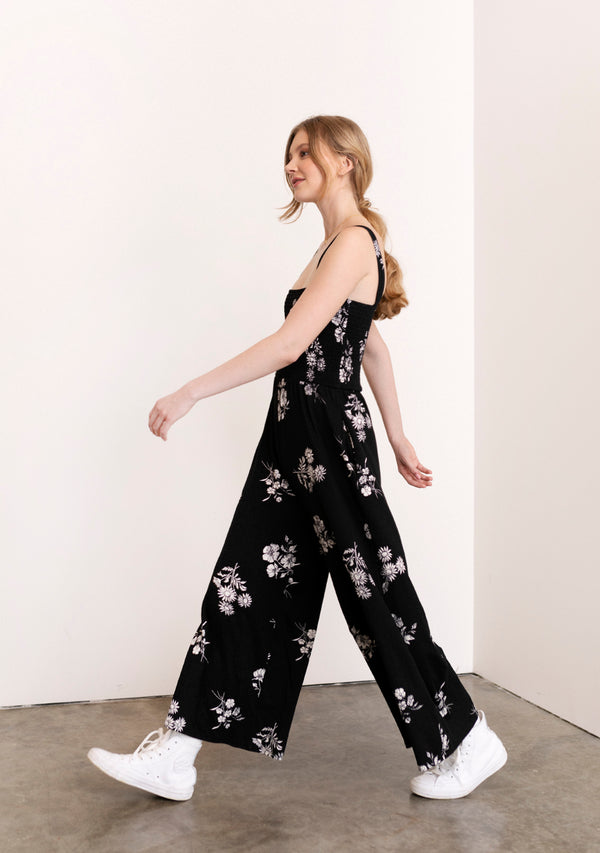 Floral Smocked Jumpsuit