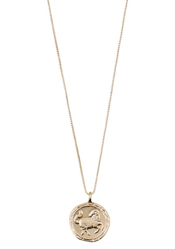 Aries Necklace Gold Plated