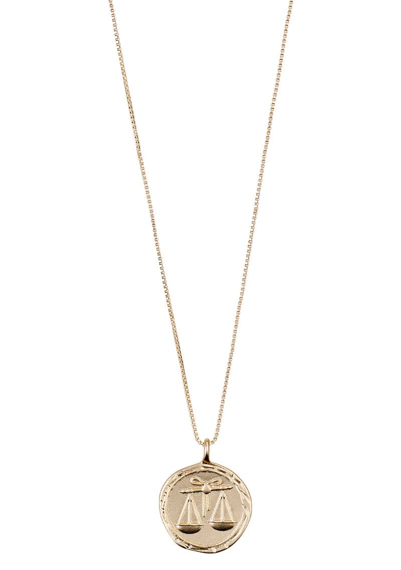 Libra Necklace Gold Plated