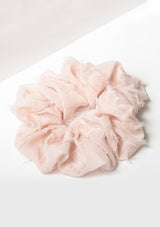 Frayed Brunch Scrunchie Blush