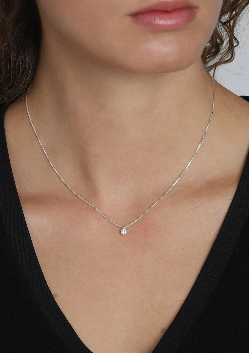 Lucia Necklace Silver Plated