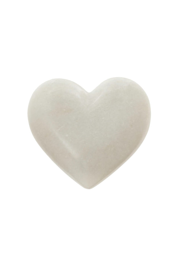 White Marble Heart L