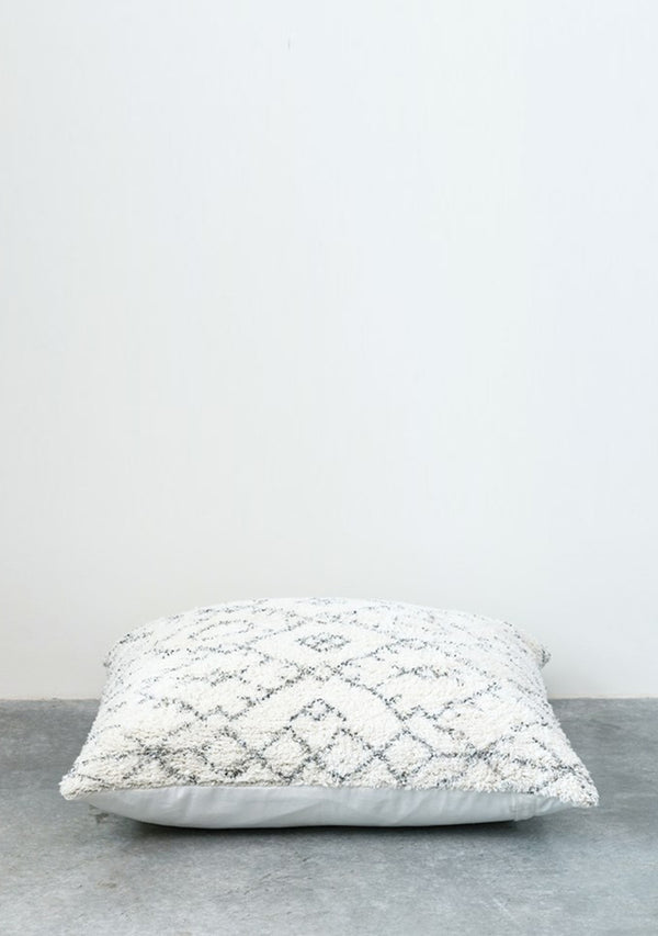 Cotton Tufted Pillow Natural/Black
