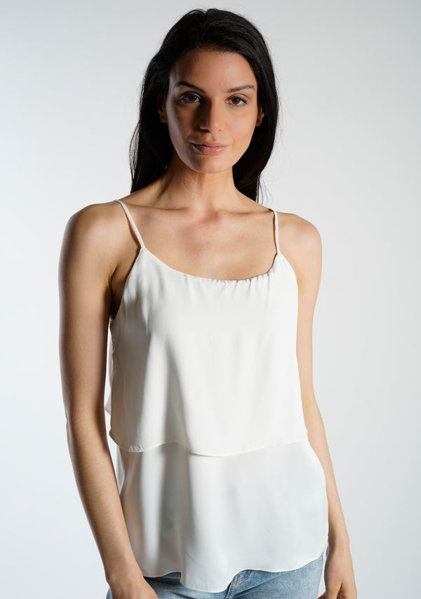 Contrast Tiered Camisole