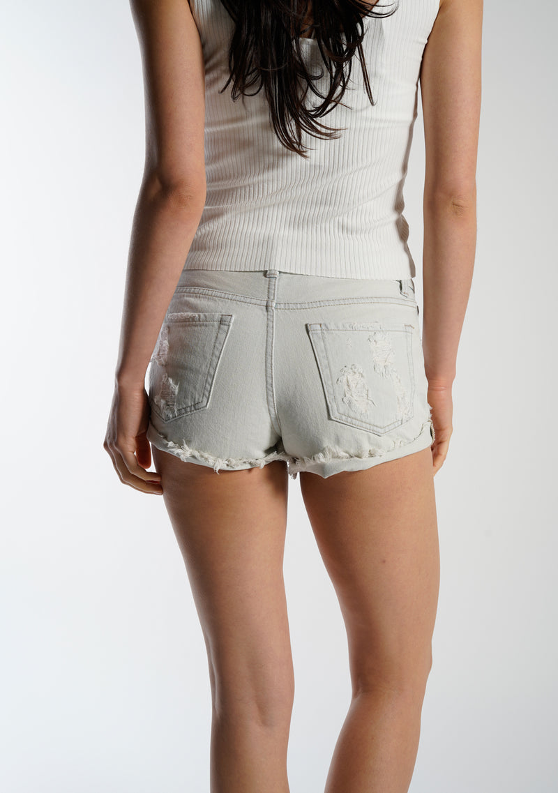 High Rise Double Rolled Shorts
