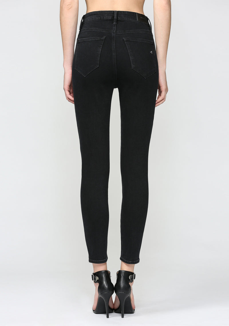 Exposed Button High Rise Skinny Jean