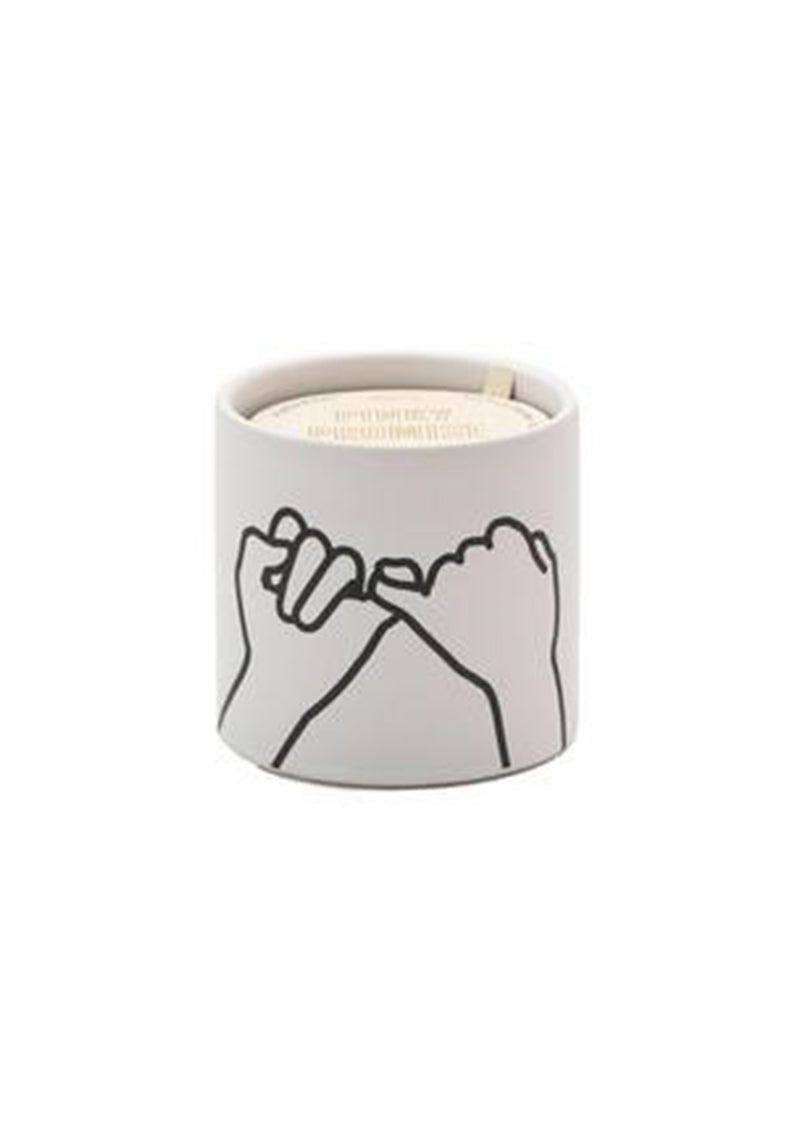 Pink Promise White Ceramic Candle 5.75oz