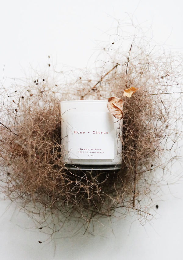 Home Series Candle Rose & Citrus