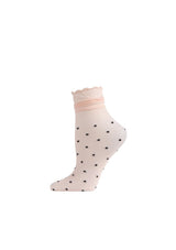 Ruffle Polka Dot Ankle Socks