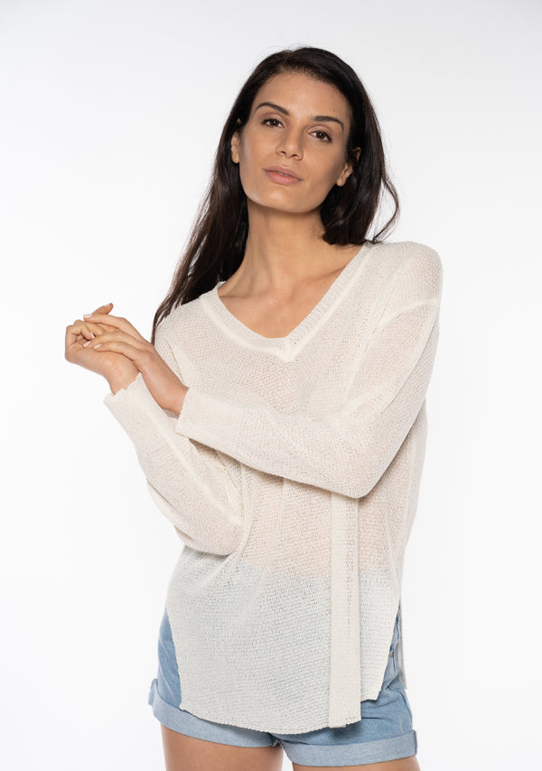 V-Neck Beach Sweater