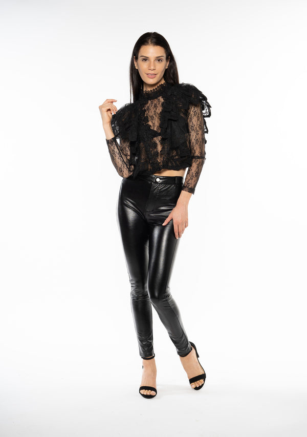 Rumi Faux Leather Trouser