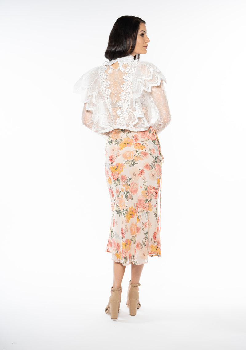 Ashley Floral Midi Skirt