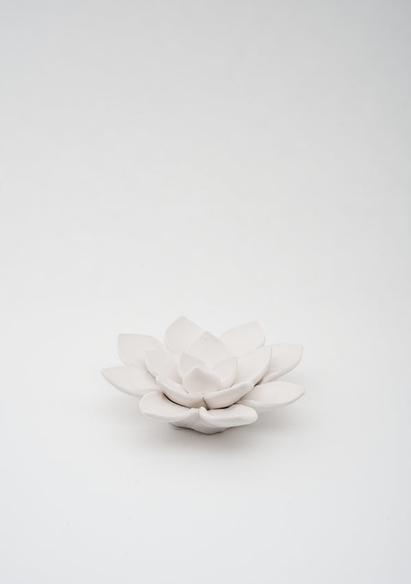 Lily Table Ornament Matte White