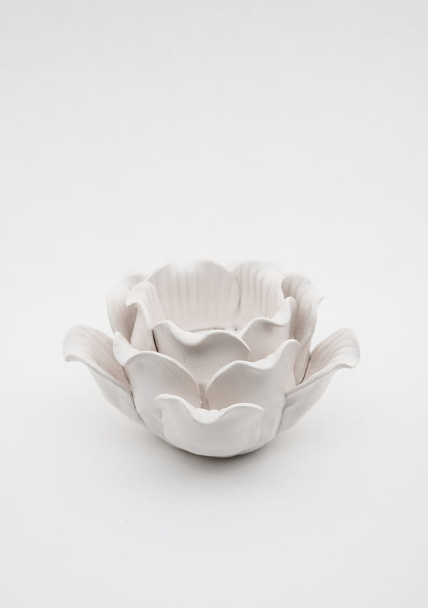 Rose Tealight Matte White