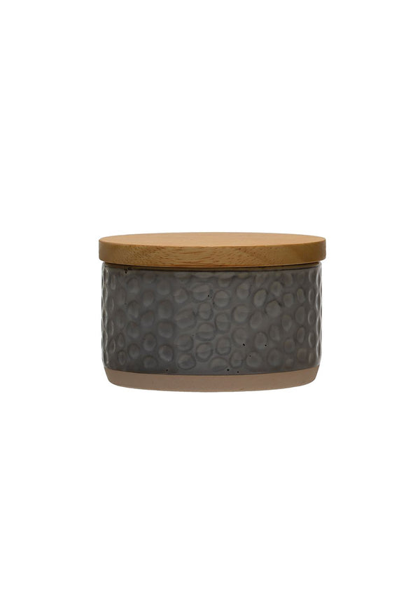 Stoneware Canister Grey