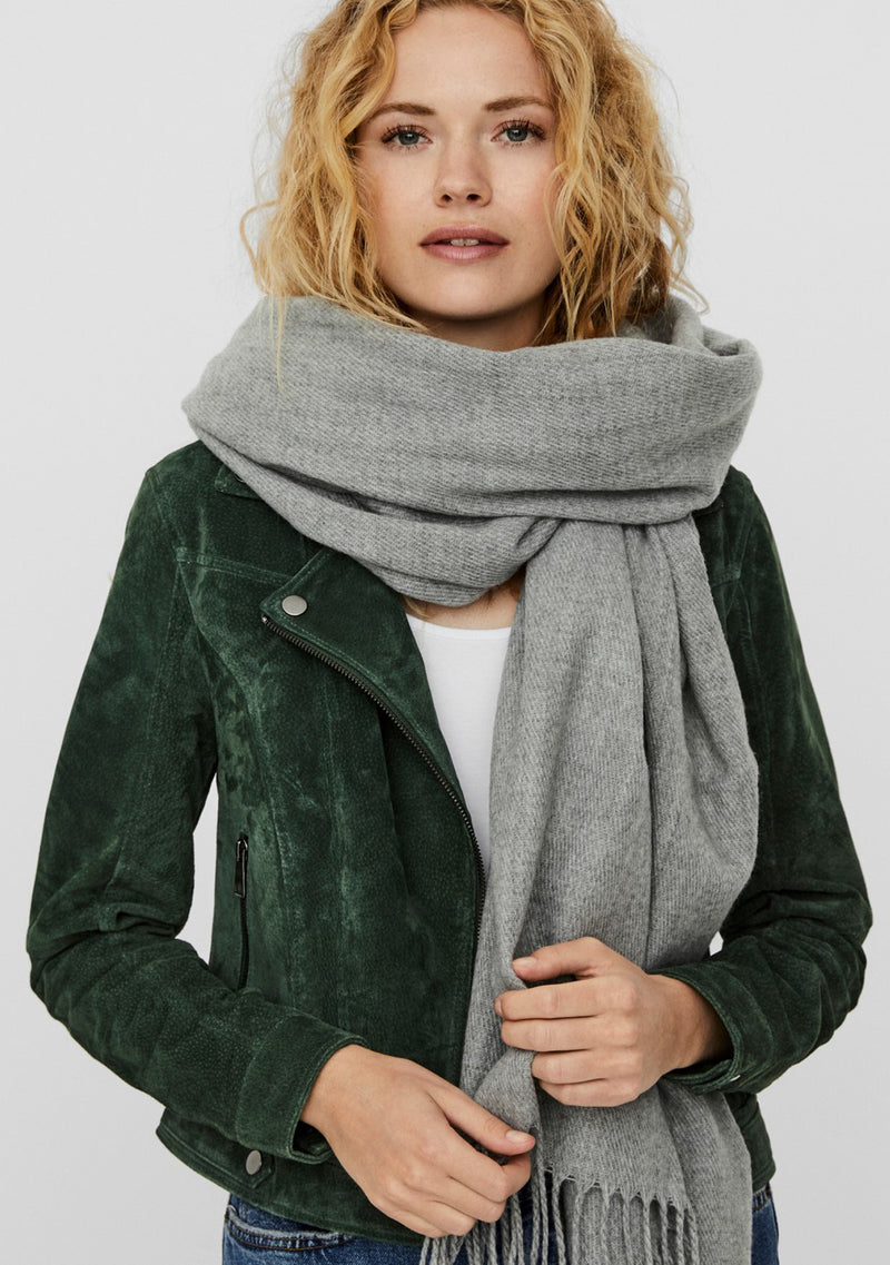 Vm Solid Long Scarf