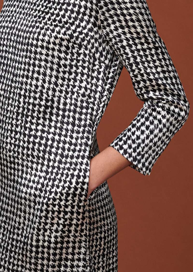DRESS MOONLIGHT HOUNDSTOOTH - Dresses - SCAPA FASHION - SCAPA OFFICIAL