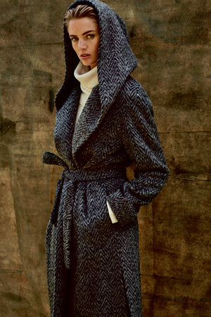 COAT LAURRY DARK - Coats - SCAPA FASHION - SCAPA OFFICIAL