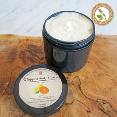 Citrus Essential Oil Whipped Body Butter 4 oz jar