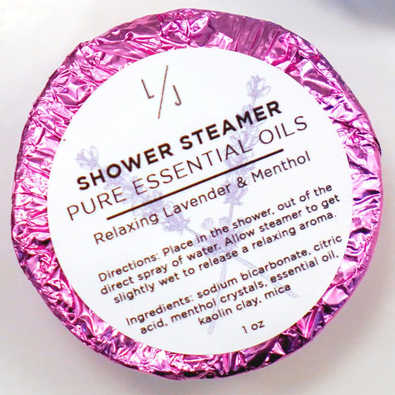 shower steamers with lavender