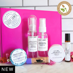 Travel gift set with essential oil skin health products