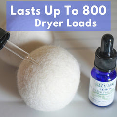 Just add 3 to 4 drops of your favorite essential oil and reuse each dryer ball up to 800 times