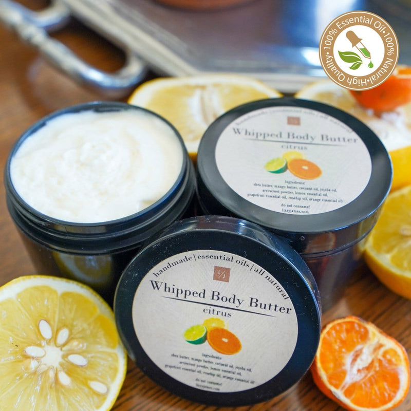 Citrus Essential Oil Whipped Body Butter (2 Pack)