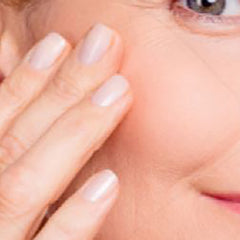 application of face serum to wrinkles and affected areas of skin