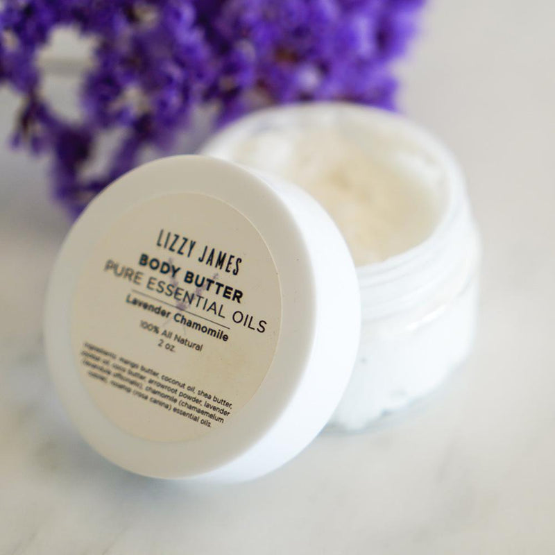 lavender chamomile body butter 2 oz jar