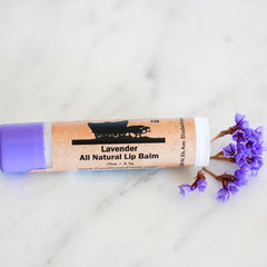 lip balm with lavender essential oils