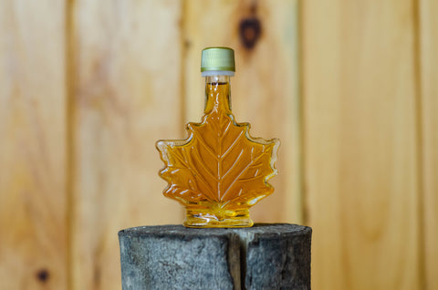 Pure Vermont Maple Syrup 50ML Glass Leaf