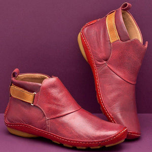 Women Casual Comfy Daily Adjustable Soft Leather Booties 5 colors